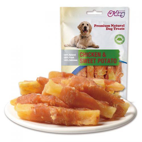Chicken and Sweet Potato Shandong Supplies Best Selling for dog premium natural dog dental training treats O'dog myjian