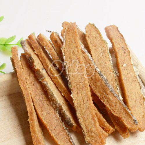 Salmon Strip With Fishskin Shandong Supplies Best Selling for dog premium natural dog dental training treats O'dog myjian