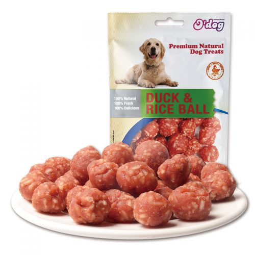 Dog training treats manufacture duck meat with rice ball snacks oem pet food for dogs wholesale dog treats importer
