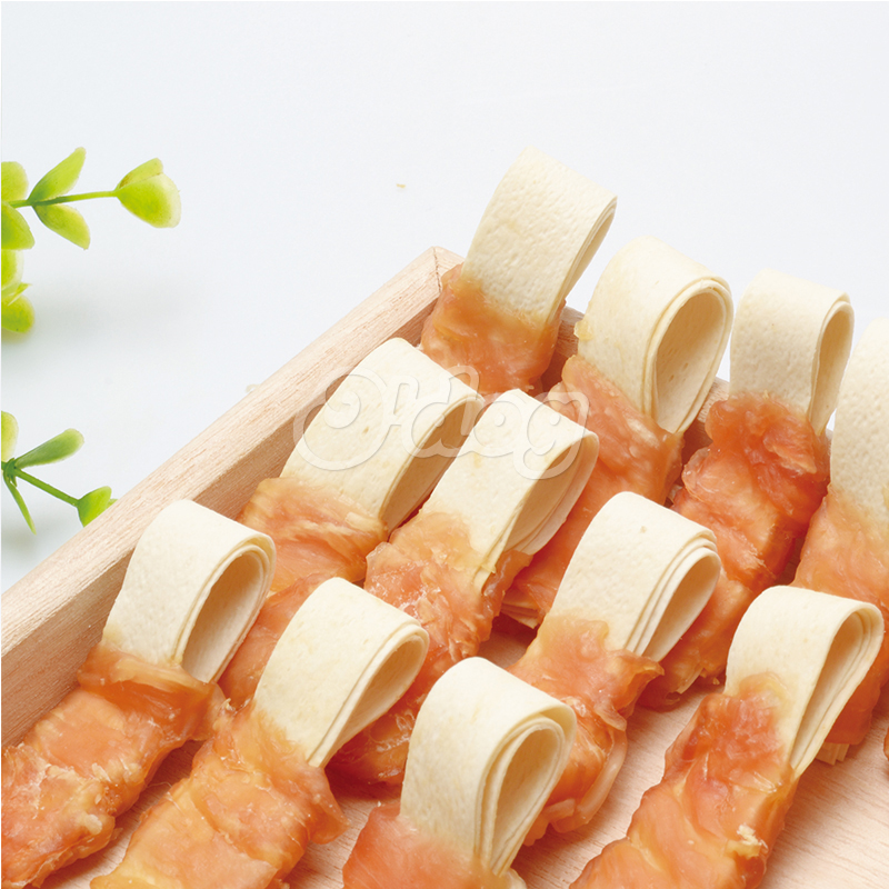 Special hot selling supplier pet supplies wholesale pet food packaging chicken wrap fish ribbon pet dog food