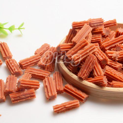 Salmon Spiral Stick Shandong Supplies Best Selling for dog premium natural dog dental training treats O'dog myjian