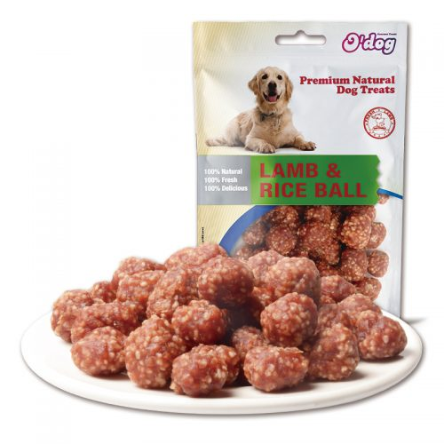 Lamb rice ball delicious snacks lamb combine rice meat high protein rich nutrition oem pet food for manufacture dog treats