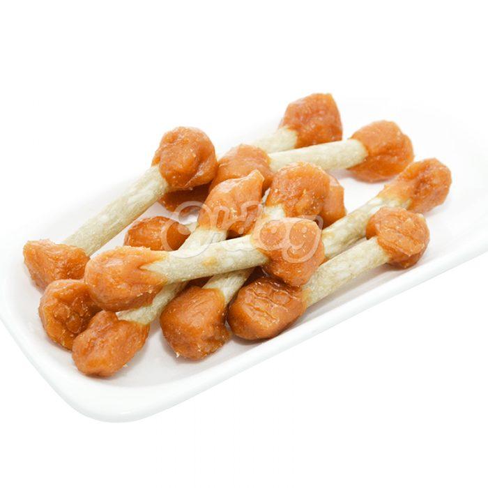 Healthy chicken meat dumbbell oem dog food natural dog chew food dog bone snacks dry pet food wholesale pet treats importer