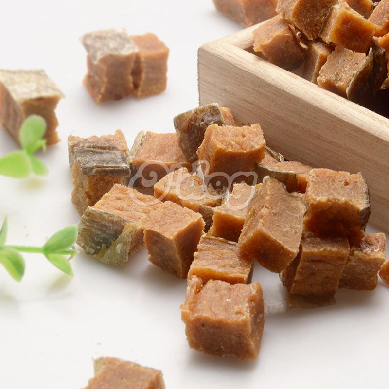 Salmon Bites With Fishskin Shandong Supplies Best Selling for dog premium natural dog dental training treats O'dog myjian