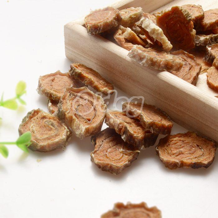 Fishskin with salmon meat sushi seafood and original salmon pet organic snack for dog wholesale dog treats dog food partner