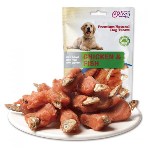 Chicken with fish pet food for dogs seafood dog training treats manufacture wholesale pet snacks importer oem private label