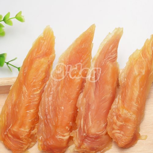 Wholesale customized pet supplies dog food bag savory chicken jerky and inner sweet potato snack dog