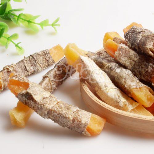 Fishskin Wrap Sweet Potato Shandong Supplies Best Selling for dog premium natural dog dental training treats O'dog myjian