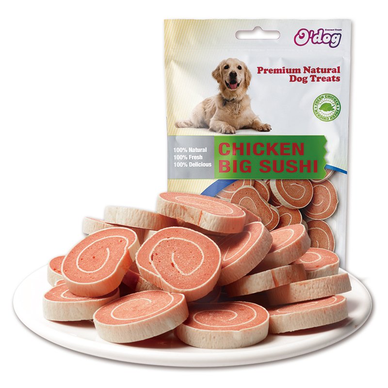 Chicken Big Sushi Shandong Factory Supplies Best Selling for dog premium natural dog dental training treats O'dog myjian
